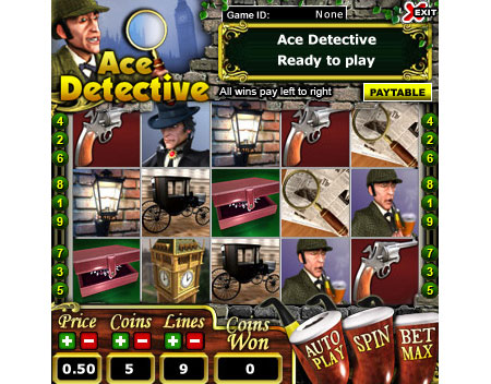 bingo liner ace detective 5 reel online slots game