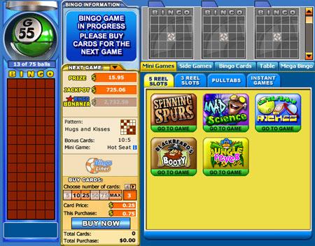 bingo liner online bingo games