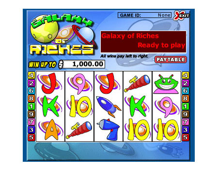 bingo liner galaxy of riches 5 reel online slots game