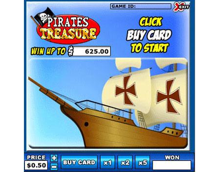 bingo liner pirates treasure online instant win game